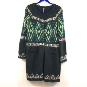 Free People Aztec 4 Snap Cardigan Sweater